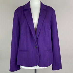 Lane Bryant Blazer Solid Purple Plus Size 22